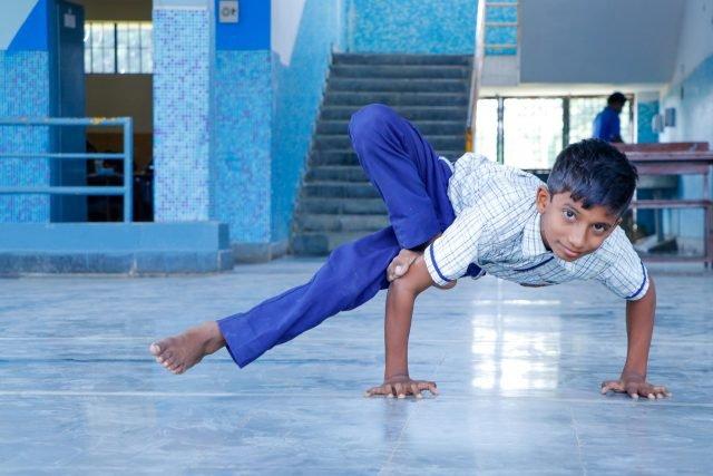 Yoga at Sujatha School Moinabad
